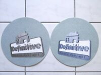 2 X DJ Turntables Slipmats Label DEFINITIVE HOUSE FOR ALL Canada Ritchie Hawtin