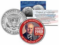 GERALD FORD *38th President* 1913-2006 JFK Kennedy Half Dollar Colorized US Coin