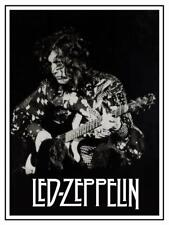 Led Zeppelin **POSTER** Jimmy Page LIVE Danelectro Guitar B&W Pic