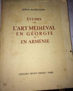 ARMENIA. ETUDES ART MÉDIÉVAL, 1929. 101 PLANCHES. (Z)