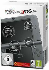 Nintendo 3DS XL - Konsole schwarz. Mit Ladekabel + 5 Spiele