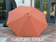 9ft Umbrella Replacement Canopy 8 Ribs in Terra Cotta (Canopy Only)
