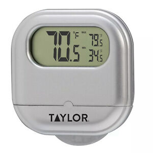 TAYLOR Digital INDOOR / OUTDOOR THERMOMETER 5257017 With Suction Cup *NEW*