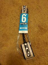 Fcs 6' Essential Series Regular Surfboard Leash White