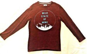 Old Navy Boys, Size XL 14-16, Burgundy Pullover Casual Sweater