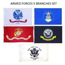Wholesale Lot 2x3Ft 5 Branches Military Set Flags 2'x3' Banner Grommets Veteran
