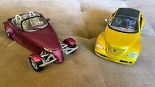 Two Chrysler Diecast Metal 1/18 Scale Model Cars