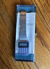 Vintage Delphi Calculator Alarm Watch New Old Stock Stainless Steel Band