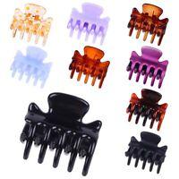 12Pcs Women Girls 3cm Mini Crab Hair Claw Clips Plastic Hairpin Jaw Clamp