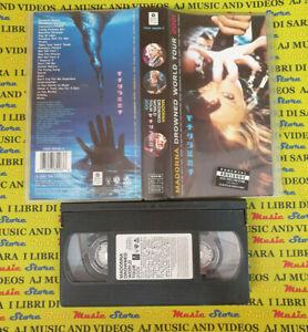 VHS MADONNA Drowned world tour 2001 WARNER 7599 38558-3 no cd mc dvd lp (VM5)**