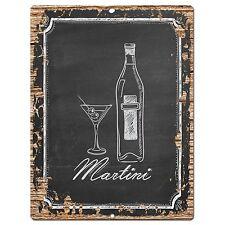 PP0736 Martini Plate Sign Home Bar Kitchen Store  Pub Restaurant Decor Gift
