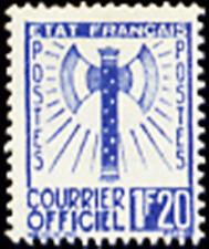 "FRANCE STAMP TIMBRE DE SERVICE N° 7 "" FRANCISQUE 1F20 BLEU "" NEUF xx TTB"