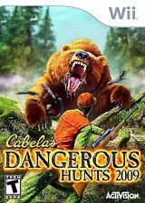 Nintendo Wii Cabela's Dangerous Hunts 2009 Video Game zapper hunting guns rinos