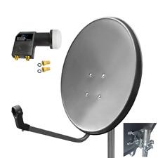 Digitale Sat Anlage 60 cm Satelliten Spiegel TWIN LNB FULL HDTV HD 0,1dB Zehnder