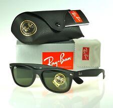 f27b338d6c Ray-Ban New Wayfarer Matte Black Rubber l Green G-15XLT RB2132 622 55mm
