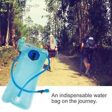 Outdoor Bicycle Runing Mouth Bladder Water Bag Hydration Camping Hiking 2L Blue