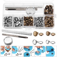 120 Sets Double Cap Rivets Metal Fixing Stud Repair Tools Kit for Leather Belt