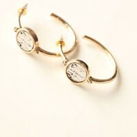 New Chicos Floral C Hoop Earrings Best Gift Vintage Women Party Holiday Jewelry