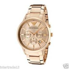 LUXURY EMPORIO ARMANI AR2452 ROSE GOLD DIAL CHRONOGRAPH MENS WATCH GIFT