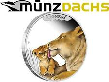 50 cents Mother's Love Lioness Tuvalu 1/2 oz .999 fine Silver 2014 Proof