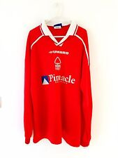 Nottingham Forest Home Shirt 1998. XL. Umbro. Red Adults Long Sleeves Top Only.
