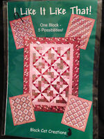 Quilt Pattern Black Cat Creations Collector One Block 2002 5 Designs Vintage NEW
