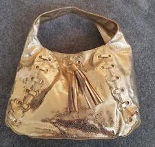 NWOT Michael Kors Collection Gold Metallic Snakeskin Shoulder Bag Handbag