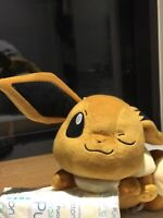 Brand New Eevee Pokemon Pikachu Japan Authentic Soft 30cm Laying Down Winking