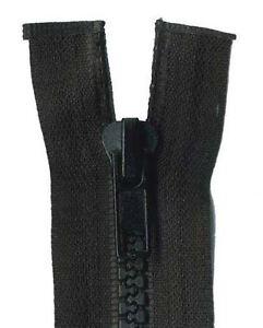 70cm Black Open End Chunky Zip