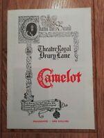 CAMELOT ~ THEATRE ROYAL DRURY LANE 1964-1965 ORIGINAL THEATRE PROGRAMME