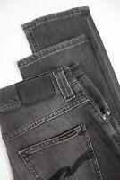 NUDIE JEANS GRIM TIM FADED BLACK Men's W29/L32 Stretch Slim Jeans 2286_mm