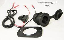 Accessory Socket Power Outlet Plug Jack 12 V Marine Motorcycle Panel Truck Auto