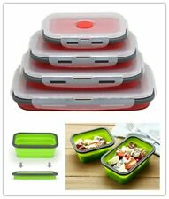 4 Size Portable Silicone Collapsible Lunch Box Folding Food Storage Container