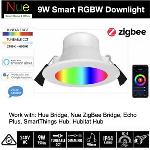 9W Smart ZigBee LED Downlight Nue Hue Bridge SmartThings Hubitat Hub Compatible