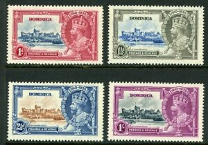 British 1935 KGV Silver Jubilee Dominica Scott #90-93  Mint Non Hinged Y101