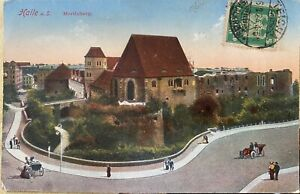 Germany Old Postcard 1924 Kalle a.S.Moritzburg to Singapore Straits Settlement