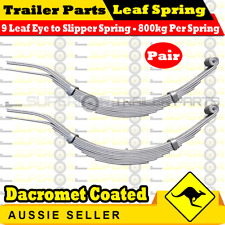 9 Leaf Eye & Slipper Trailer Spring (1600kg rating) Dacromet Coated x 1 pair
