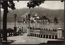 AD4434 Isola San Giulio (NO) - Lago d'Orta - Panorama - Cartolina postale