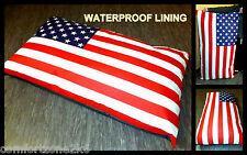 ZIPPY WATERPROOF STARS & STRIPES BEANBAG DOG BED BEAN BAG SOFA MATTRESS - LARGE