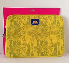 NEW Juicy Couture Neoprene Yellow Python Snake Print Laptop Sleeve Case Bag 13""