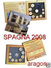 2008 SPAGNA 8 monete euro espagne spanien ARAGON