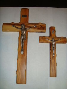 CROSS CRUCIFIX- OLIVE WOOD  CROSS MADE IN ISRAEL, HAND CARVED