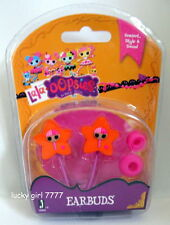 NIP LaLaLOOPSY LaLa OOPSIE EARBUDS Headphones Pink Stars SEW CUTE FREE SHIPPING