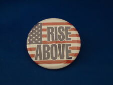 """""""RISE ABOVE"""" Lot of 12  Patriotic BUTTONS  America USA  pin flag American badge"""