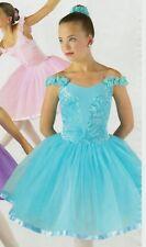 Dance costume Lyrical Ballet Ribbon Rosette Bodice Dark Pink ch//ladies sizes