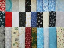 "Assorted Snowflakes Fabric 30 Pc Layer Cake 10"" Squares OOP Premium Cotton"