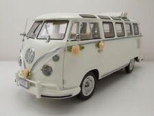 VW t1 samba boda bus 1962 blanco maqueta de coche 1:12 Sun Star