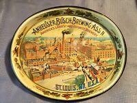 Anheuser-Busch Brewing Ass'n St Louis MO Beer Serving Trays Budweiser