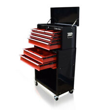 371 US PRO TOOLS BLACK RED TOOL CHEST BOX ROLLER CABINET DRAWER DIVIDERS