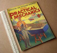 1936 Vintage Practical Mechanics Magazine. Speedboat Project